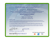 View PCI Certificate of Compliance