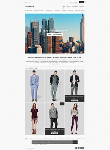 front sample picture Metropole Responsive Theme – New Updated Themes from 3dCart