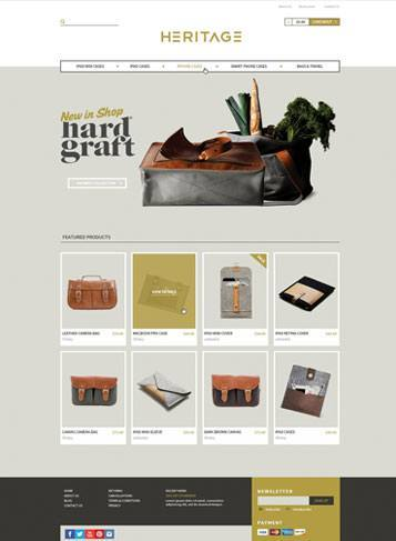front sample picture Heritage Responsive Theme – New Updated Themes from 3dCart