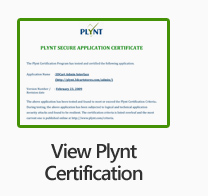 View PLYNT Certificate