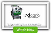 Using the Quick Design Bar - 3dCart Shopping Cart Software