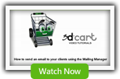 Mailing Manager - 3dCart Shopping Cart Software