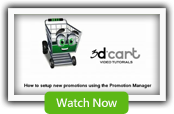Promotion Manager - 3dCart Shopping Cart Software