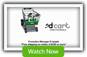 Promotion Manager #4 - 3dCart Shopping Cart Software
